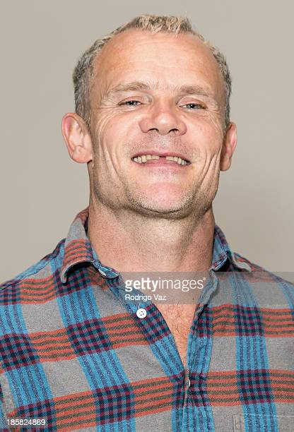 Musician Flea of Red Hot Chili Peppers attends The Hollywood Chamber of Commerce presents Mack Sennet Studios official ribbon cutting ceremony at...