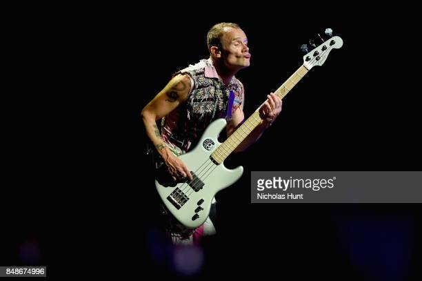 Musician Flea of Red Hot Chili Peppers performs onstage during the Meadows Music and Arts Festival Day 3 at Citi Field on September 17 2017 in New...