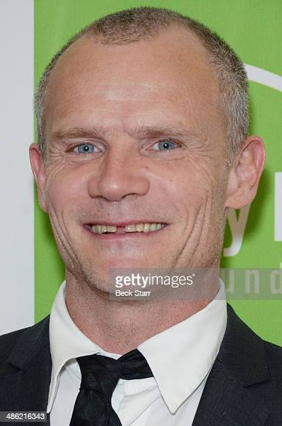 Musician Flea of the Red Hot Chili Peppers arrives at Liberty Hill's Upton Sinclair Annual Awards Dinner at The Beverly Hilton Hotel on April 22 2014...