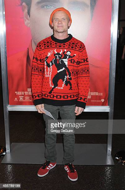 Musician Flea of the Red Hot Chili Peppers arrives at the Los Angeles premiere of Her at Directors Guild Of America on December 12 2013 in Los...