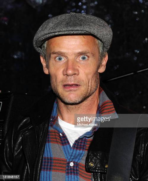 Musician Flea of the Red Hot Chili Peppers attends AEG's Season of Giving Silverlake Conservatory of Music Awareness Night at LA Live on December 18...