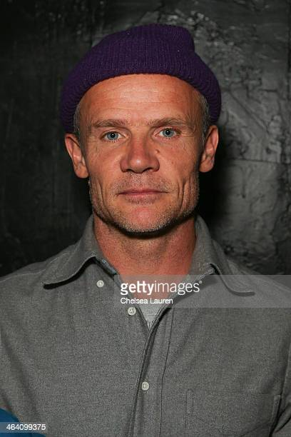Musician Flea of the Red Hot Chili Peppers attends the Day For Night Video Lounge at Huffington Post In ChefDance Space on January 20 2014 in Park...