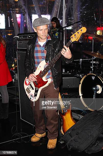 Musician Flea of the Red Hot Chili Peppers performs at AEG's Season of Giving Silverlake Conservatory of Music Awareness Night at Nokia Plaza LA LIVE...