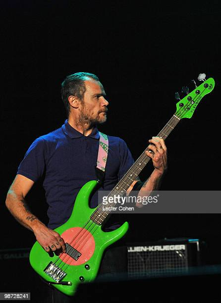 Musician Flea of the Red Hot Chili Peppers performs onstage at the 2010 MusiCares Person Of The Year Tribute To Neil Young at the Los Angeles...