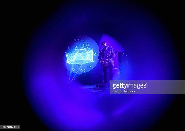 Musician Floating Points performs onstage during FYF Fest 2016 at Los Angeles Sports Arena on August 28 2016 in Los Angeles California