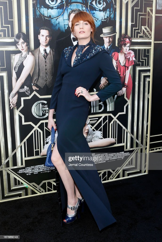 Musician Florence Welch attends the 'The Great Gatsby' world premiere at Avery Fisher Hall at Lincoln Center for the Performing Arts on May 1, 2013 in New York City.