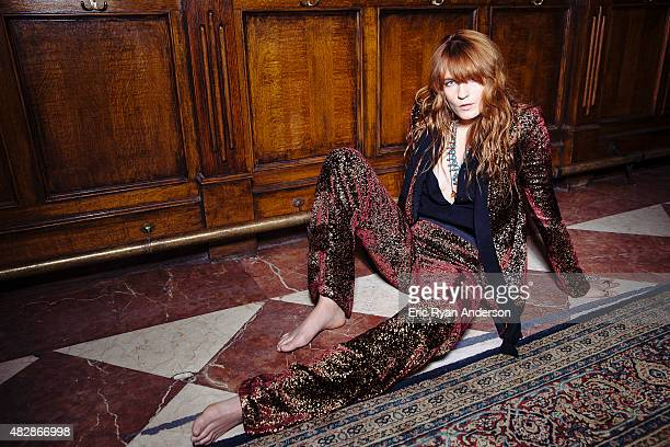 Musician Florence Welch is photographed for Billboard Magazine on May 6 2015 in New York City PUBLISHED IMAGE