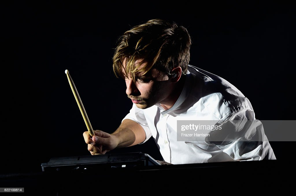 Musician Flume performs onstage during day 3 of the 2016 Coachella Valley Music And Arts Festival Weekend 1 at the Empire Polo Club on April 17, 2016 in Indio, California.