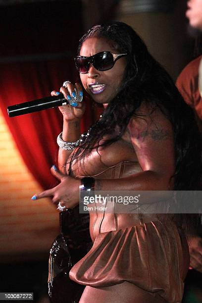 Musician Foxy Brown performs at BB King Blues Club Grill on July 25 2010 in New York City