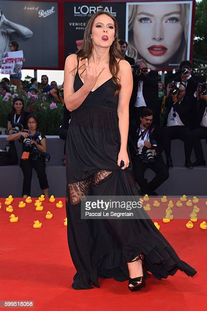 Musician Francesca Michielin attends the premiere of 'Piuma' during the 73rd Venice Film Festival at Sala Grande on September 5 2016 in Venice Italy