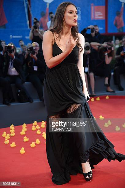 Musician Francesca Michielin attends the premiere of the movie 'Piuma' presented in competition at the 73rd Venice Film Festival on September 5 2016...