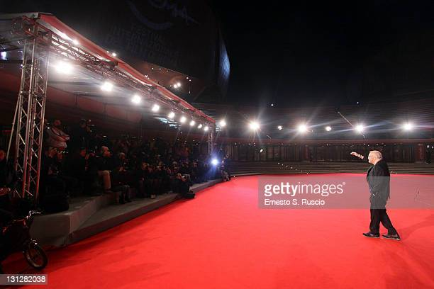 Musician Franco Califano attends the Noi Di Settembre premiere during the 6th International Rome Film Festival on November 3 2011 in Rome Italy