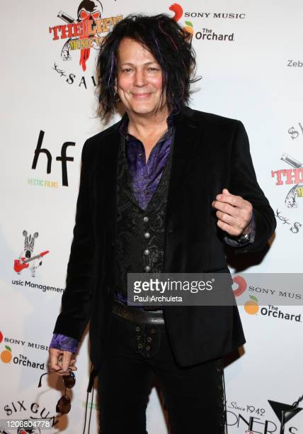 Musician Frank Greenfield attends the arrivals for the live performance of the Rock Band Six Gun Sal at Boardners Restaurant on February 16 2020 in...