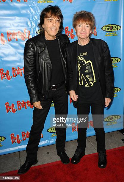 Musician Frank Infante and radio personality Rodney Bingenheimer arrive for Women Underground Presents The Premiere Of 'BC Butcher' held at The...