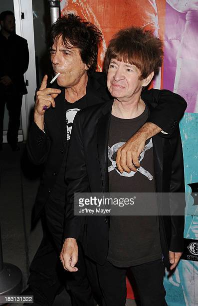 Musician Frank Infante and Rodney Bingenheimer arrive at the 'CBGB' Special Screening at ArcLight Cinemas on October 1 2013 in Hollywood California
