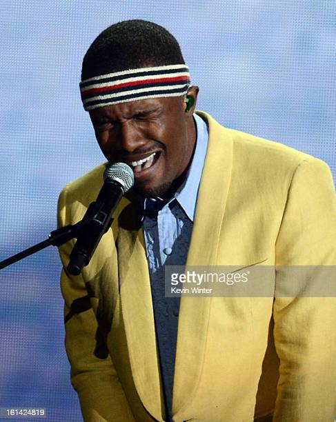 Musician Frank Ocean performs onstage during the 55th Annual GRAMMY Awards at STAPLES Center on February 10 2013 in Los Angeles California