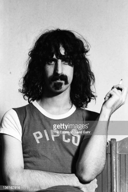 Musician Frank Zappa poses for a portrait at The Garrick Theater in 1967 in Greenwich Village New York City New York
