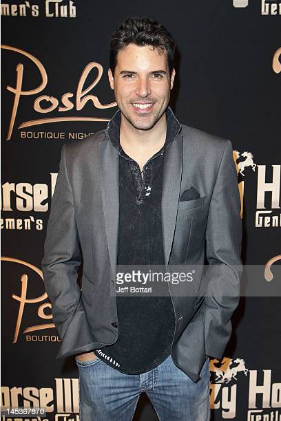 Musician Frankie Moreno arrives to celebrate Claire Sinclair's 21st Birthday at Crazy Horse III Gentleman's Club on May 26 2012 in Las Vegas Nevada