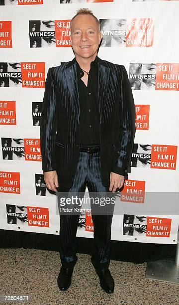 Musician Fred Schneider attends the second annual gala dinner and concert to benefit Witness which helps promote human rights causes worldwide...