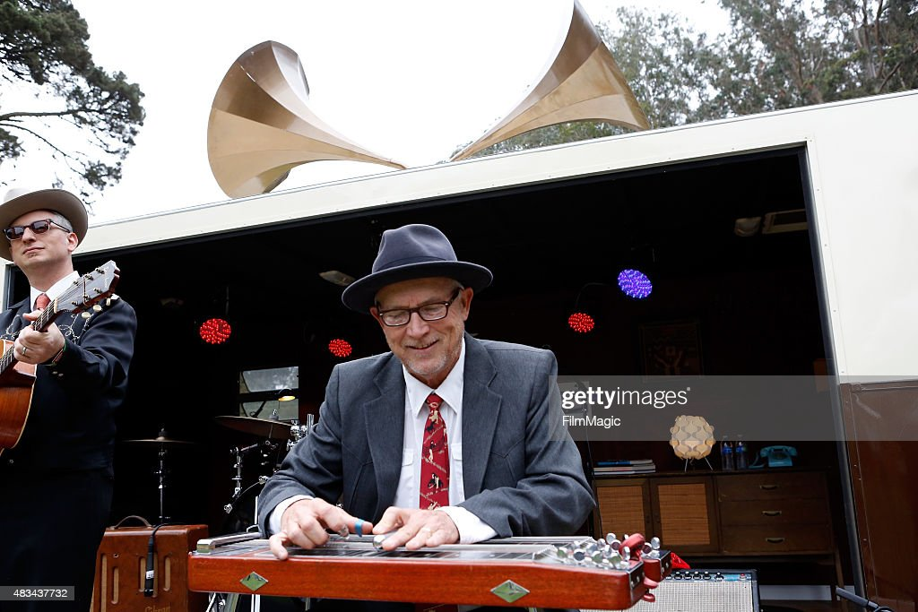 A musician from Arann Harris and The Farm Band performs at the Presidio Stage during day 2 of the 2015 Outside Lands Music And Arts Festival at Golden Gate Park on August 8, 2015 in San Francisco, California.