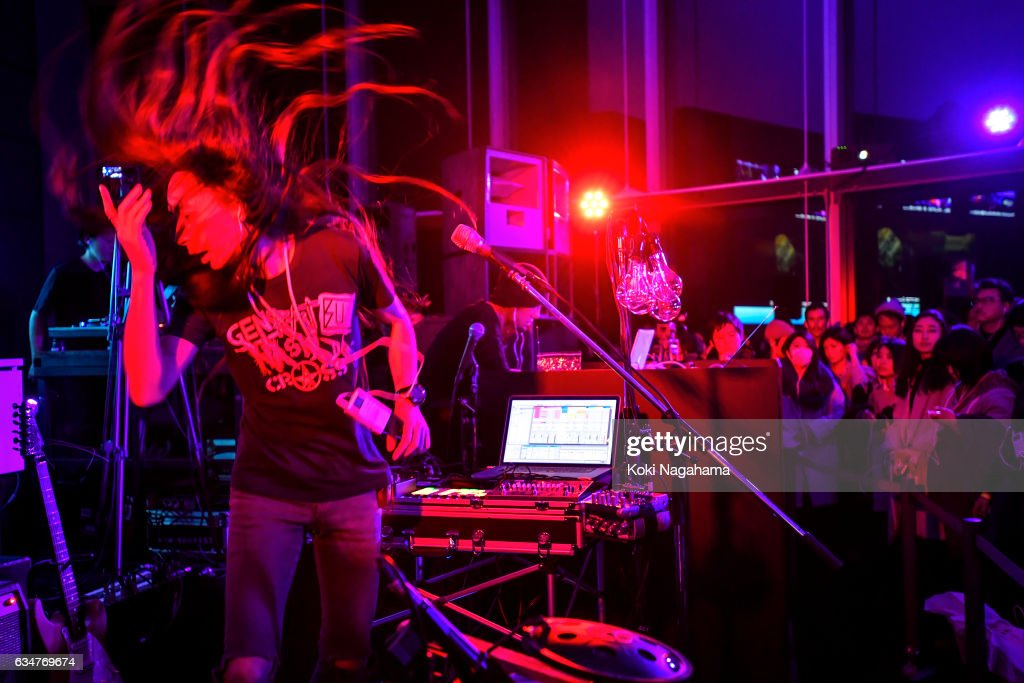 Musician Fuyuki Yamakawa performs during UNSOUND INTERACTIVE LIVE at Roppongi Hills MAT LAB Mori Tower 52F, TOKYO CITY VIEW on February 11, 2017 in Tokyo, Japan.