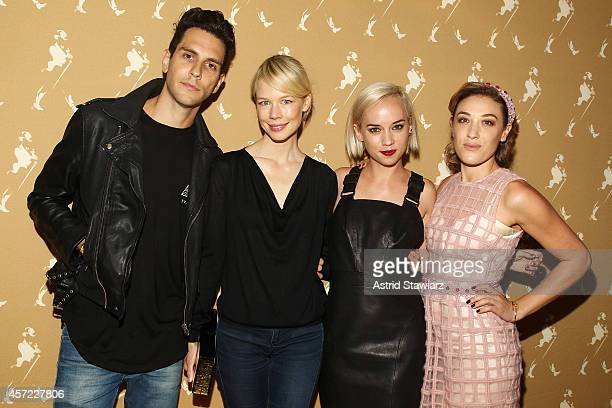 Musician Gabe Saporta of Cobra Starship fashion designer Erin Fetherston and violinist Margot and DJ Mia Moretti of The Dolls attend Johnnie Walker's...