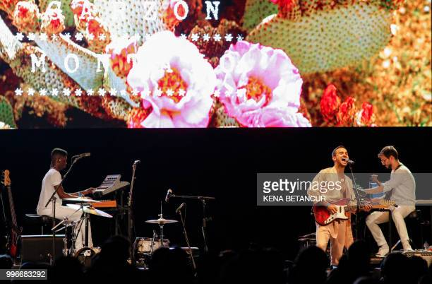 US musician Gabriel GarzonMontano performs during a summer stage concert in Central Park on July 11 2018 in New York City