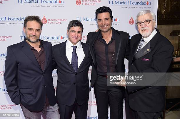 Musician Gabriel Vicentico Chairman and CEO Sony Music Entertainment Latin Iberia Afo Verde singer Chayanne and TJ Martell Foundation founder and...