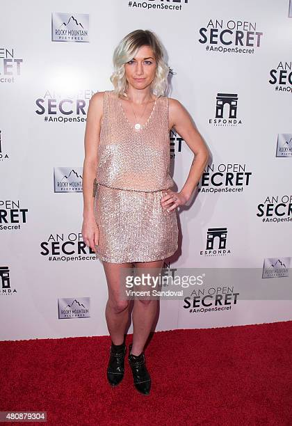"Musician Gabrielle Wortman attends the Los Angeles premiere of Amy Berg's ""An Open Secret"" at Writers Guild Theater on July 15, 2015 in Beverly..."