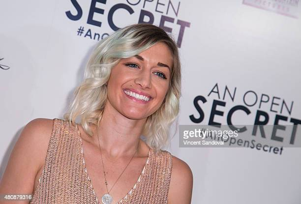 Musician Gabrielle Wortman attends the Los Angeles premiere of Amy Berg's An Open Secret at Writers Guild Theater on July 15 2015 in Beverly Hills...