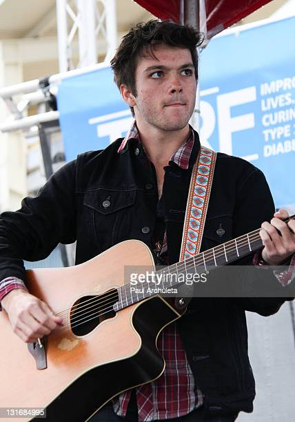 Musician Garrett Zeile of the Rock Band JetStream attends the JDRF Walk For A Cure at Dodger Stadium on November 6 2011 in Los Angeles California