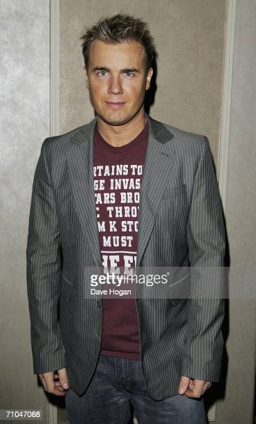 Musician Gary Barlow arrives at the 51st Ivor Novello Awards at the Grosvenor House Hotel on May 25 2006 in London England