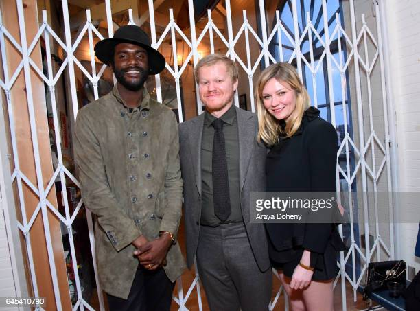 Musician Gary Clark Jr actors Jesse Plemons and Kirsten Dunst attend the 2017 Film Independent Spirit Awards at the Santa Monica Pier on February 25...