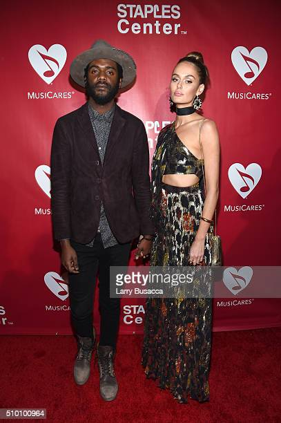 Musician Gary Clark Jr and model Nicole Trunfio attend the 2016 MusiCares Person of the Year honoring Lionel Richie at the Los Angeles Convention...