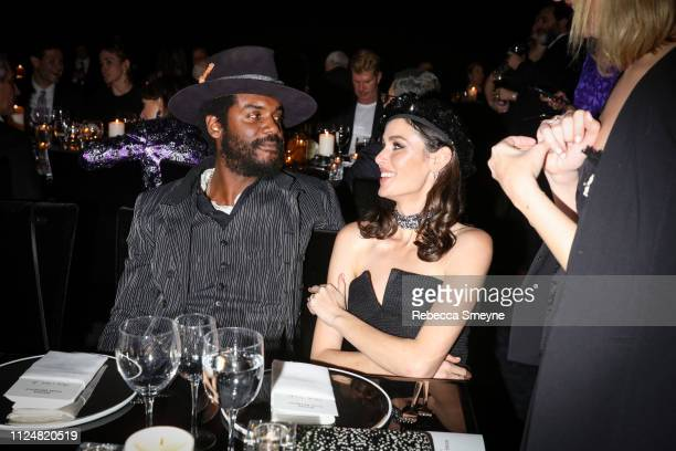 Musician Gary Clark Jr and model Nicole Trunfio attend the Museum of Modern Art Film Benefit Presented by Chanel A Tribute to Martin Scorsese at the...
