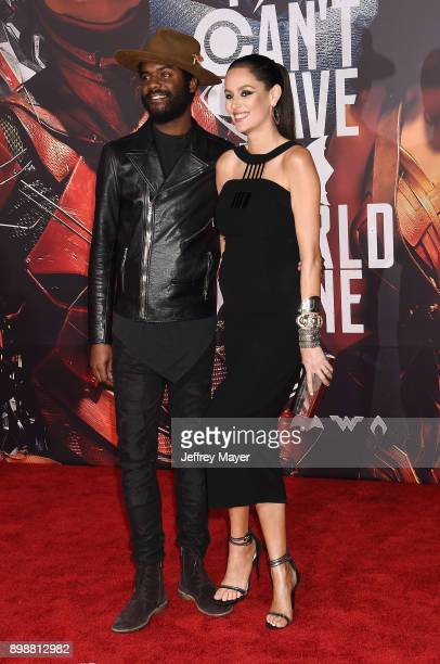Musician Gary Clark Jr and wife/model Nicole Trunfio arrive at the premiere of Warner Bros Pictures' 'Justice League' at the Dolby Theatre on...