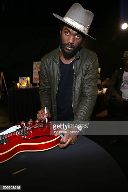 Musician Gary Clark Jr attends the gifting suite during the 2016 MusiCares Person Of The Year honoring Lionel Richie at Los Angeles Convention Center...
