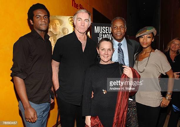 Musician Gary Clark Jr., filmmaker John Sayles, producer Maggie Renzi, actor Danny Glover and actress Yaya DaCosta attend a celebration of the Museum...