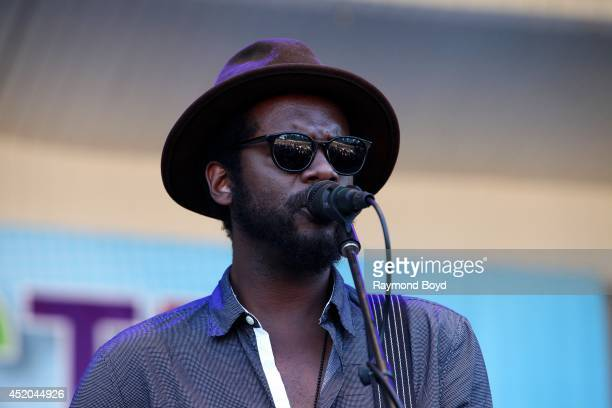 Musician Gary Clark Jr performs on the Petrillo Music Shell during the 34th Annual Taste Of Chicago food festival on July 10 2014 in Chicago Illinois