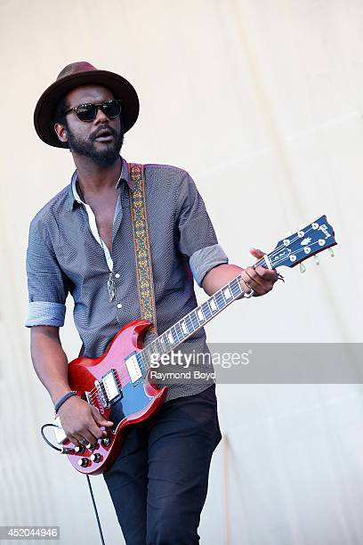 Musician Gary Clark Jr performs on the Petrillo Music Shell during the 34th Annual 'Taste Of Chicago' food festival on July 10 2014 in Chicago...