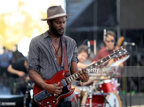 Musician Gary Clark Jr performs onstage during day 2 of the 2016 Coachella Valley Music Arts Festival Weekend 1 at the Empire Polo Club on April 16...
