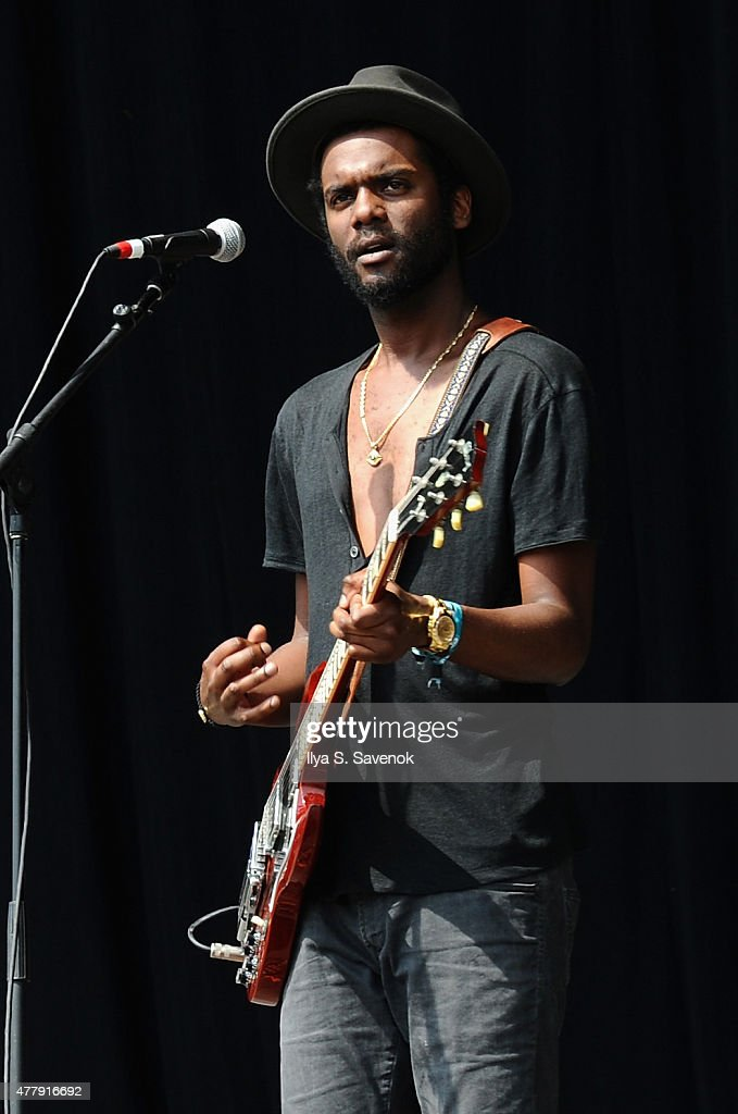 Musician Gary Clark Jr. performs onstage during day 3 of the Firefly Music Festival on June 20, 2015 in Dover, Delaware.
