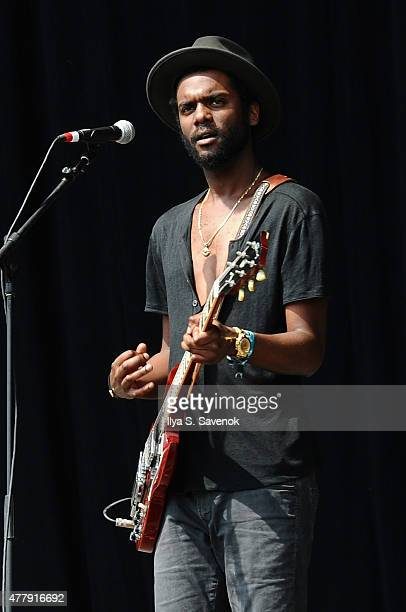 Musician Gary Clark Jr performs onstage during day 3 of the Firefly Music Festival on June 20 2015 in Dover Delaware