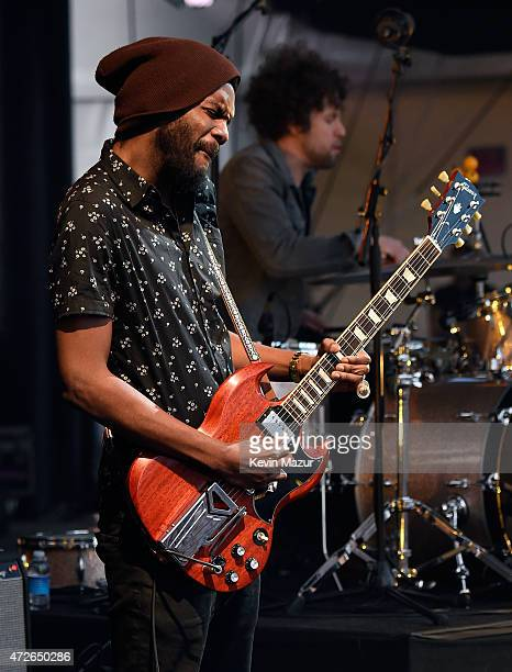 Musician Gary Clark Jr performs onstage during Rock In Rio USA at the MGM Resorts Festival Grounds on May 8 2015 in Las Vegas Nevada