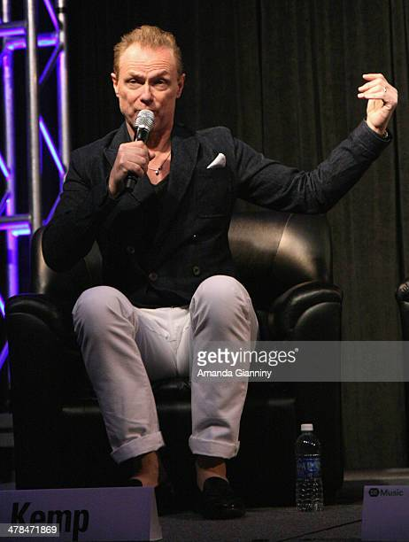 Musician Gary Kemp of Spandau Ballet speaks onstage at SXSW Interview Spandau Ballet during the 2014 SXSW Music Film Interactive at Austin Convention...