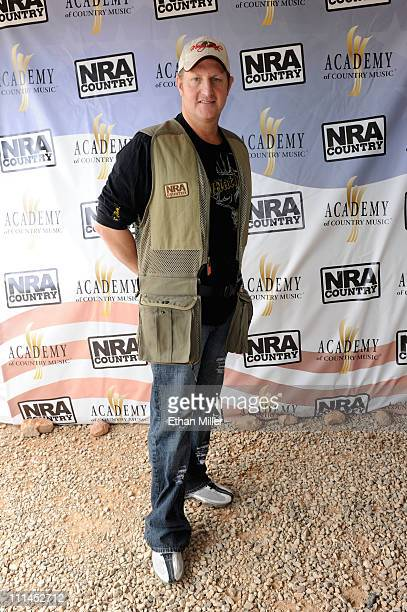 Musician Gary LeVox attends the NRA Country/ACM Celebrity Shoot hosted by Blake Shelton at Nellis Air Force Base on April 2 2011 in Las Vegas Nevada