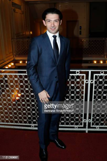 Musician Gautier Capucon attends the Fondation Prince Albert II De Monaco Evening at Salle Gaveau on February 21 2019 in Paris France