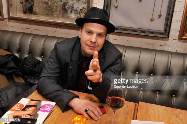 Musician Gavin DeGraw attends the afterparty for SELF Magazine and Relativity Media's special New York screening of Safe Haven at Beauty and Essex on...