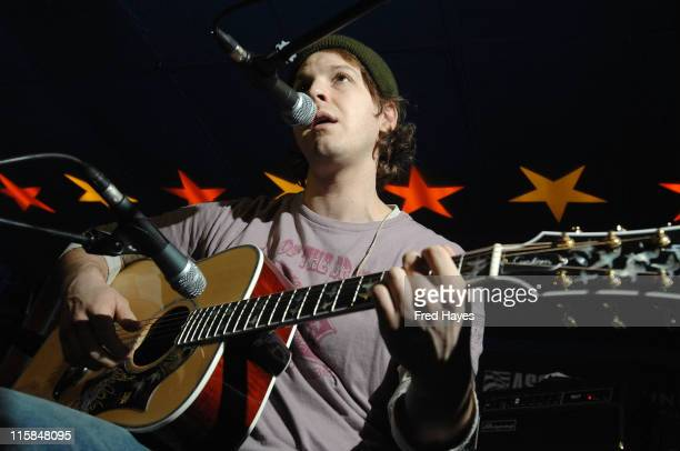 Musician Gavin DeGraw performs at the Music Cafe during the 2008 Sundance Film Festival on January 24 2008 in Park City Utah