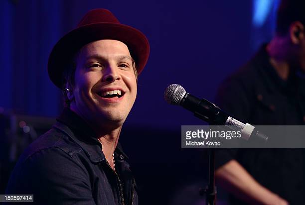 Musician Gavin Degraw performs during the 2012 iHeartRadio Music Festival Pre Party at MGM Grand Garden Arena on September 22, 2012 in Las Vegas,...